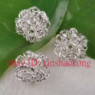 SHIP 100pcs Beautiful Silver Plated Spacer Beads 12mm KS7613
