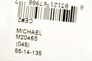 MICHAEL KORS MK 2046S 045 SUNGLASSES SILVER METAL AVIATOR DARK GREY