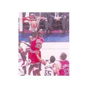 Michael Jordan 16x20 Dunk vs. Nets Sports & Outdoors