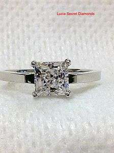 PRINCESS CUT ENGAGEMENT PROMISE RING SOLID STERLING SILVER .925