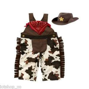 New baby boy cowboy brindle costume, scarf and sheriff hat set #203