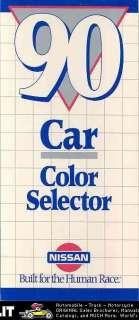 1990 Nissan Paint Colors Brochure 300ZX 240SX Pulsar