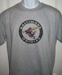 Baltimore ORIOLES 1970s Throwback Logo T Shirt X Large