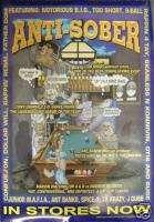 ANTI SOBER rap comp promo poster, 17x24, Notorious BIG