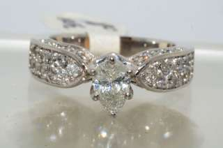6000 1.29CT PEAR CUT DIAMOND ENGAGEMENT RING SIZE 5.75