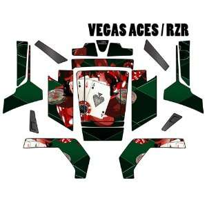 RZR GRAPHICS DECAL VEGAS ACES GREEN BACKGROUND RED CHIPS Automotive