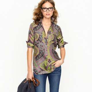 Popover tunic in sovereign paisley   blouses   Womens shirts & tops