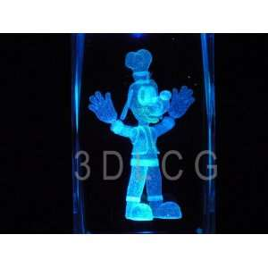Disney Goofy 3D Laser Etched Crystal S1