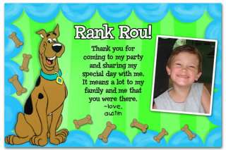 Scooby Doo Custom Photo Thank You cards