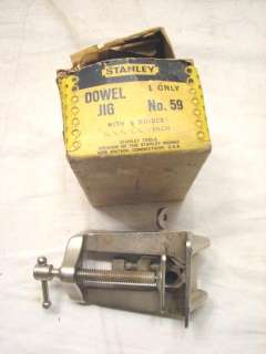 VINTAGE STANLEY 59 DOWEL JIG WOOD WORKING TOOL W/ BOX