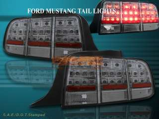 05 06 07 FORD MUSTANG SMOKE LED TAIL LIGHTS 2005 2006 2007