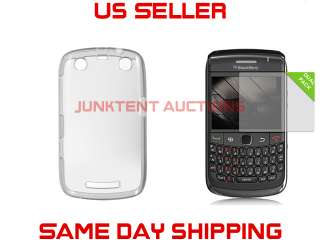 TPU Rubber Case+2 LCD Covers For Blackberry Curve 9350 9360