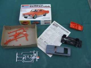 Monogram Plastic Model Kit 1965 Plymouth Barracuda Parts MoPar 65 Cuda