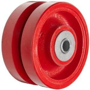 Casters VIR 0630 12 6 Diameter X 3 Width Cast Iron V Groove Wheel