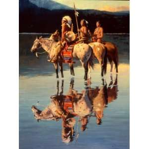 Peace on Blue Lake by David Mann, 21x28  Home & Kitchen