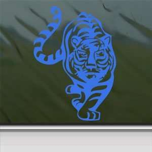 Tiger Large Cat Blue Decal Car Truck Bumper Window Blue