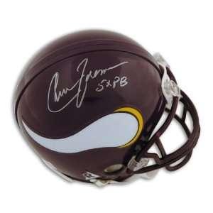 Chuck Foreman Autographed/Hand Signed Minnesota Vikings Mini Helmet