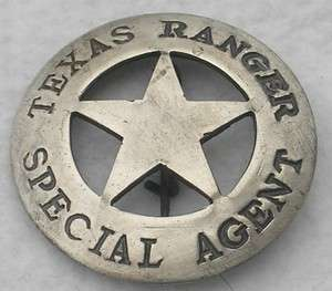 Texas Ranger Special Agent Police Badge Sheriff Marshal