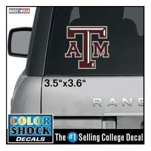 ATM Premium Die Cut Decal by Color Shock   Block T Decal Automotive