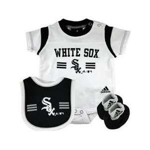Chicago White Sox Bib, Booties, Creeper Onesie Set 6 9