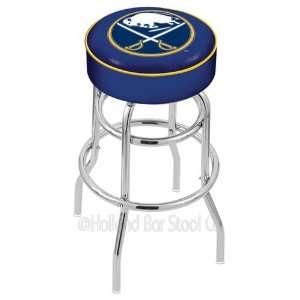 Buffalo Sabres Logo Chrome Double Ring Swivel Bar Stool Base with 4