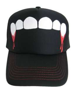 Vampire Fangs True Blood Goth Trucker Hat Baseball Cap