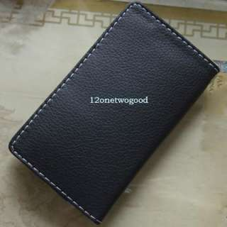 New Luxury PU Leather Skin Wallet Card Pouch Case Cover For iphone 4