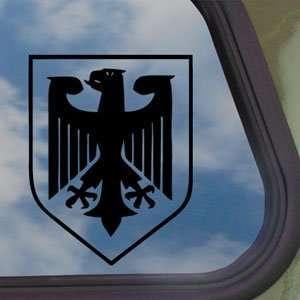 GERMANY CREST Eagle Army Military Black Decal Car Sticker