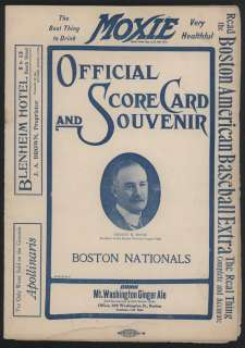 1908 Boston DOVES (Braves) vs Philadelphia PHILLIES Baseball Scorebook