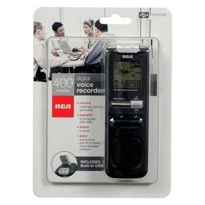 Rca Built In Usb Digital Voice Recorder Black 400 Hour