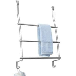 Classico Over The Shower Door Towel Rack 3, Silver
