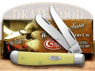 XX Smooth Yellow Delrin Mini Trapper CV Pocket Knife Knives