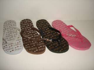NEW WOMEN BLACK WHITE PINK FLIP FLOPS THONG COMFY 328