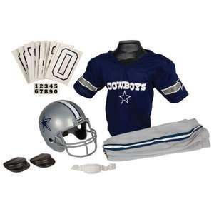 Cowboys Kids/Youth/Boys Deluxe Football Helmet/Jersey/Pants Uniform