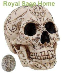 Halloween Tribal Voodoo Tattoo Skull Gothic Table Decor