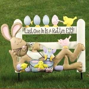 Easter Rotten Egg Garden Spring Yard Stake Decor Metal