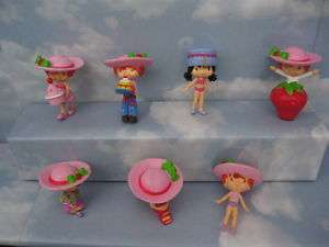 Strawberry ShortCake Detailed Complete Set Of 7 Toys