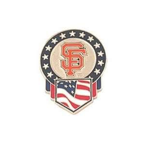 Baseball Pin   San Francisco Giants Flag Pin by Peter David