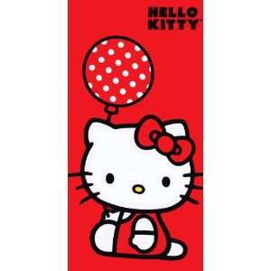 12 Hello Kitty Balloon Beach Towels 30 X 60 Wholesale
