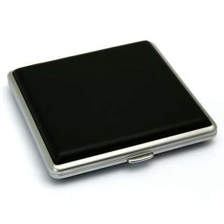 NEW Black Leather Cigarette Case, Holds 20 cigarettes