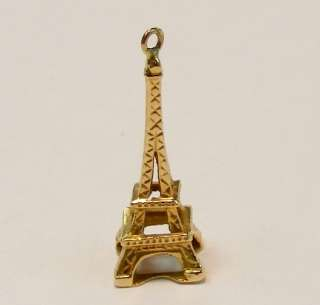 Offered today is this very nice 18K yellow gold Eiffel Tower charm