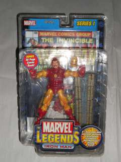 MARVEL LEGENDS SERIES 1 UNMASKED IRON MAN TOYBIZ RARE