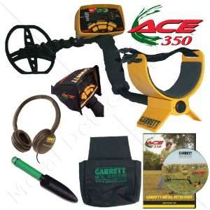 Garrett Ace 350 Metal Detector Treasure Hunter Package W