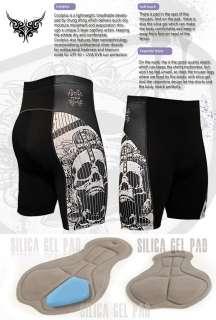 mens triathlon Cycle Bicycle Bike cyclist 12mm gel padded shorts gear