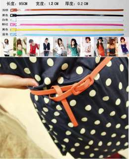 Adjustable Low Waist Narrow Thin Skinny Leather Belt Hot sell