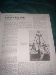 NICE JAN 1935 HUNTING & FISHING MAG WILLIAM EATON COVER |