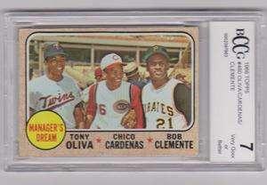 CLEMENTE/CARDENAS/OLIVA 1968 TOPPS 68 TOPPS #480 BCCG 7