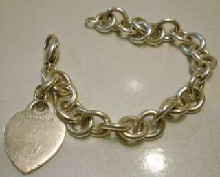 Vintage Tiffany & Co. Sterling silver heart charm bracelet (AF)