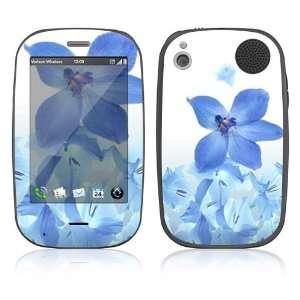 Palm Pre Plus Skin Decal Sticker   Blue Neon Flower