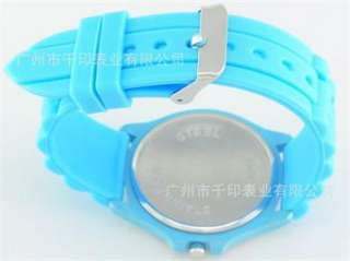 FASHION Jelly Silicone Candy Quartz Wrist Men Lady Luxury Crystal